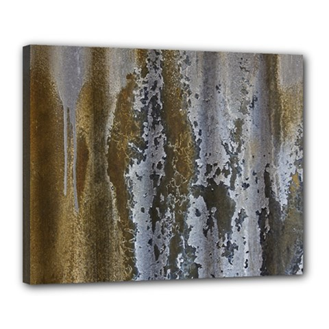 Grunge Rust Old Wall Metal Texture Canvas 20  X 16