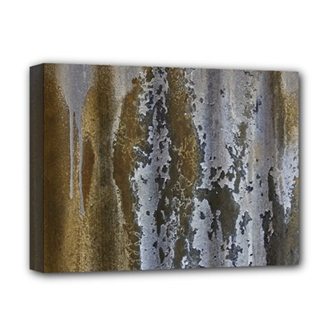 Grunge Rust Old Wall Metal Texture Deluxe Canvas 16  X 12