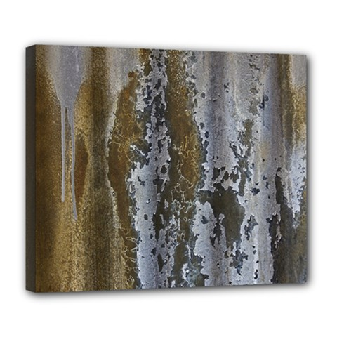 Grunge Rust Old Wall Metal Texture Deluxe Canvas 24  X 20