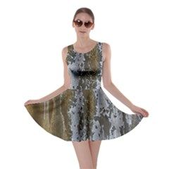 Grunge Rust Old Wall Metal Texture Skater Dress