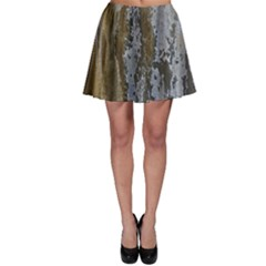 Grunge Rust Old Wall Metal Texture Skater Skirt