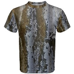 Grunge Rust Old Wall Metal Texture Men s Cotton Tee