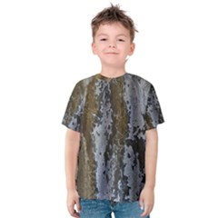 Grunge Rust Old Wall Metal Texture Kids  Cotton Tee