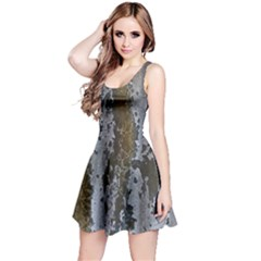 Grunge Rust Old Wall Metal Texture Reversible Sleeveless Dress