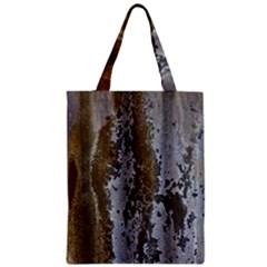Grunge Rust Old Wall Metal Texture Zipper Classic Tote Bag