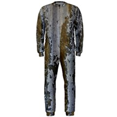 Grunge Rust Old Wall Metal Texture Onepiece Jumpsuit (men)