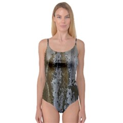 Grunge Rust Old Wall Metal Texture Camisole Leotard