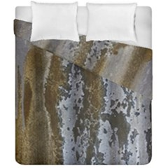 Grunge Rust Old Wall Metal Texture Duvet Cover Double Side (california King Size)