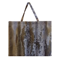 Grunge Rust Old Wall Metal Texture Zipper Large Tote Bag