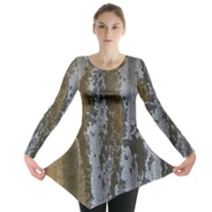 Grunge Rust Old Wall Metal Texture Long Sleeve Tunic
