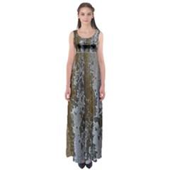 Grunge Rust Old Wall Metal Texture Empire Waist Maxi Dress