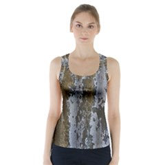 Grunge Rust Old Wall Metal Texture Racer Back Sports Top
