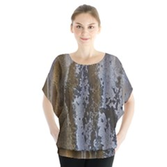 Grunge Rust Old Wall Metal Texture Blouse