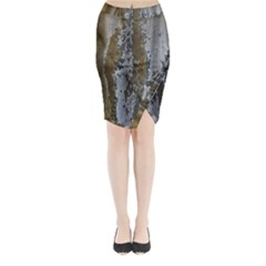 Grunge Rust Old Wall Metal Texture Midi Wrap Pencil Skirt