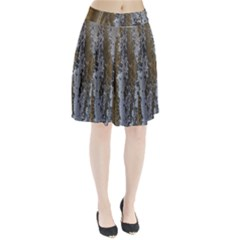 Grunge Rust Old Wall Metal Texture Pleated Skirt
