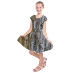 Grunge Rust Old Wall Metal Texture Kids  Short Sleeve Dress
