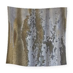Grunge Rust Old Wall Metal Texture Square Tapestry (large)