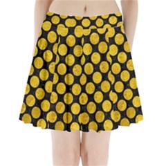 CIR2 BK-YL MARBLE Pleated Mini Skirt
