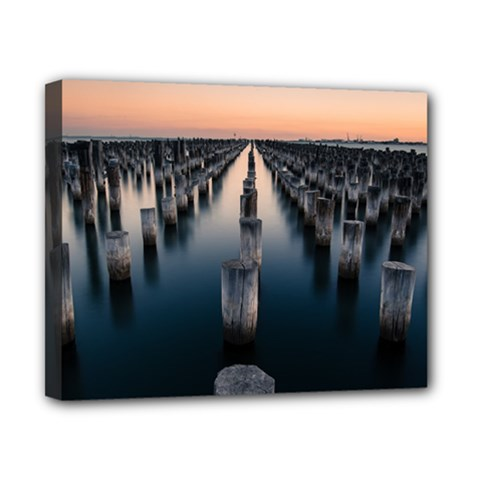 Logs Nature Pattern Pillars Shadow Canvas 10  X 8