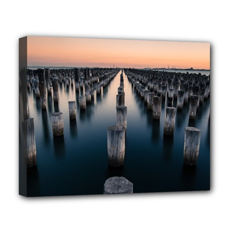 Logs Nature Pattern Pillars Shadow Deluxe Canvas 20  X 16