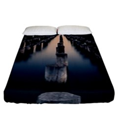 Logs Nature Pattern Pillars Shadow Fitted Sheet (king Size)