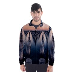 Logs Nature Pattern Pillars Shadow Wind Breaker (men)