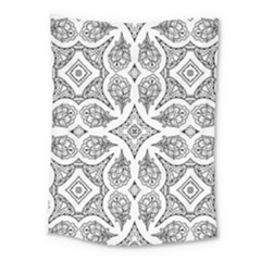 Mandala Line Art Black And White Medium Tapestry
