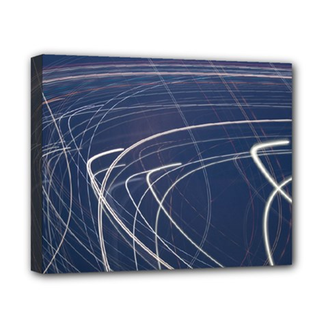 Light Movement Pattern Abstract Canvas 10  X 8