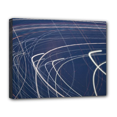 Light Movement Pattern Abstract Canvas 14  x 11