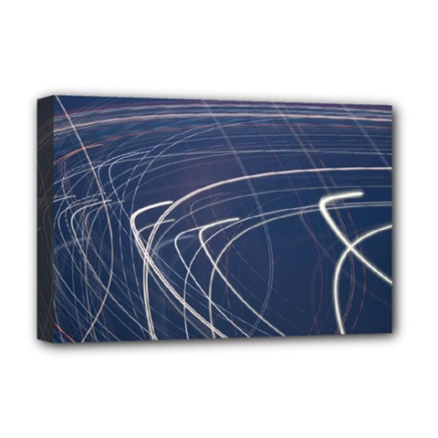 Light Movement Pattern Abstract Deluxe Canvas 18  X 12