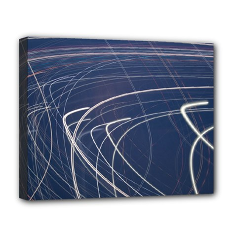 Light Movement Pattern Abstract Deluxe Canvas 20  X 16