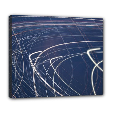 Light Movement Pattern Abstract Deluxe Canvas 24  X 20