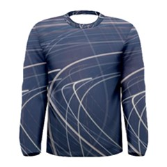 Light Movement Pattern Abstract Men s Long Sleeve Tee