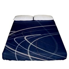 Light Movement Pattern Abstract Fitted Sheet (king Size)