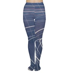 Light Movement Pattern Abstract Women s Tights