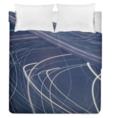 Light Movement Pattern Abstract Duvet Cover Double Side (queen Size)