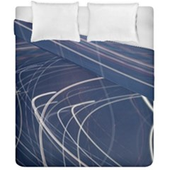 Light Movement Pattern Abstract Duvet Cover Double Side (california King Size)