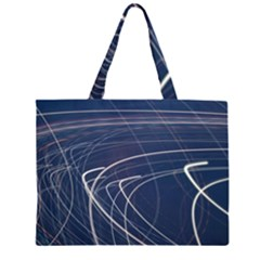 Light Movement Pattern Abstract Zipper Large Tote Bag