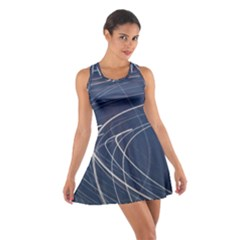 Light Movement Pattern Abstract Cotton Racerback Dress
