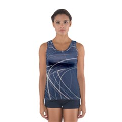 Light Movement Pattern Abstract Women s Sport Tank Top