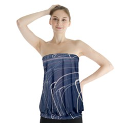 Light Movement Pattern Abstract Strapless Top