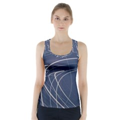 Light Movement Pattern Abstract Racer Back Sports Top