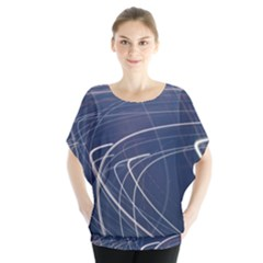 Light Movement Pattern Abstract Blouse