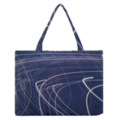 Light Movement Pattern Abstract Medium Zipper Tote Bag