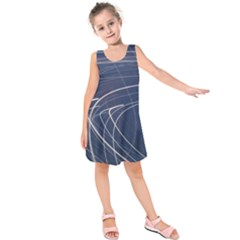 Light Movement Pattern Abstract Kids  Sleeveless Dress