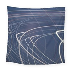 Light Movement Pattern Abstract Square Tapestry (large)