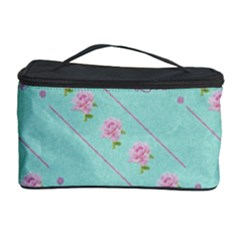 Love Flower Blue Background Texture Cosmetic Storage Case