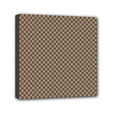 Pattern Background Diamonds Plaid Mini Canvas 6  X 6