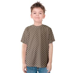 Pattern Background Diamonds Plaid Kids  Cotton Tee