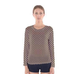 Pattern Background Diamonds Plaid Women s Long Sleeve Tee